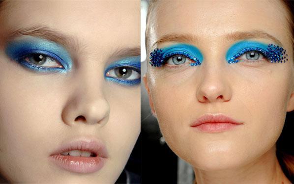 Макияж для круглых голубых глаз фото