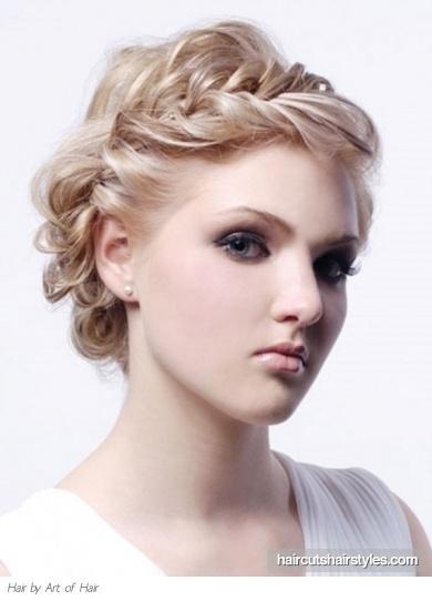 Греческие прически на короткие волосы
