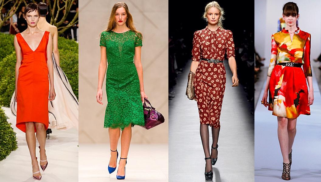 Модные платья весна лето 2013 фото из