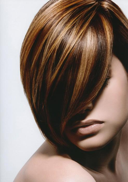 Мелирование на каре темные волосы фото