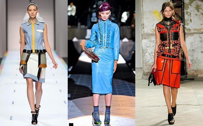 кожаные юбки 2013