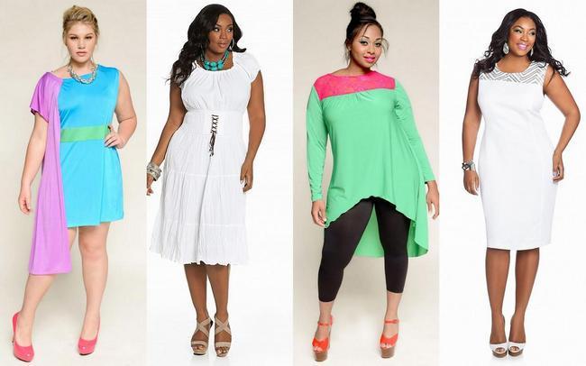 мода для полных весна-лето 2013