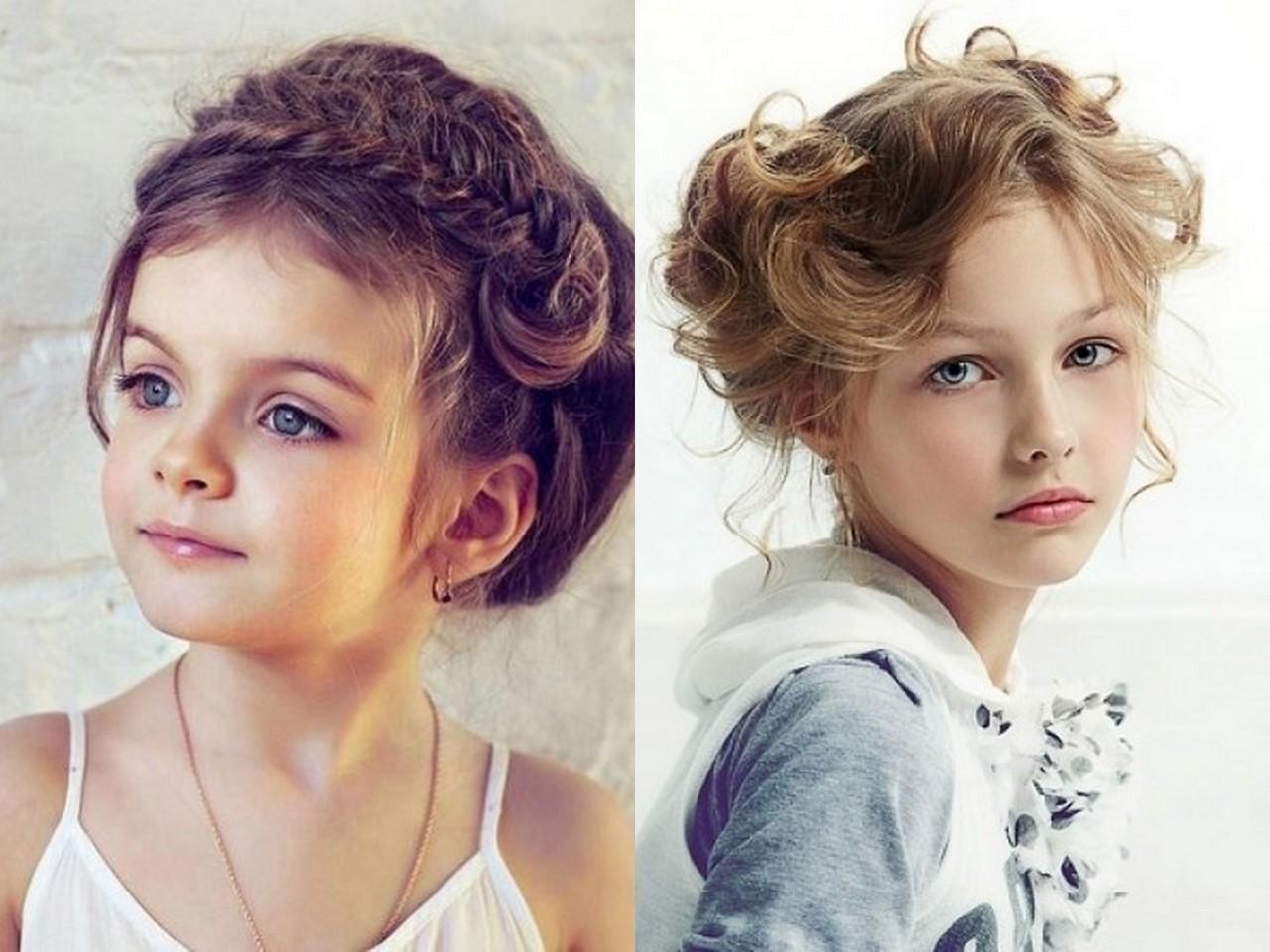 Стильная причёска для девочки 891