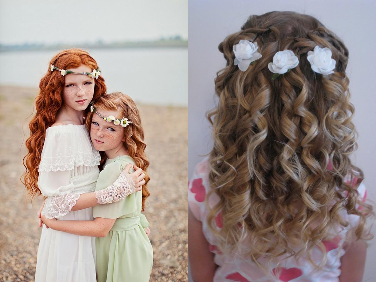 Причёски на длинные волосы видео детские