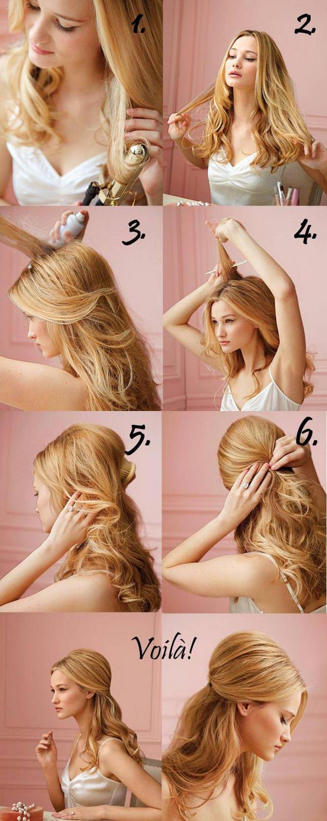 как красиво уложить набок волосы фото пошагово