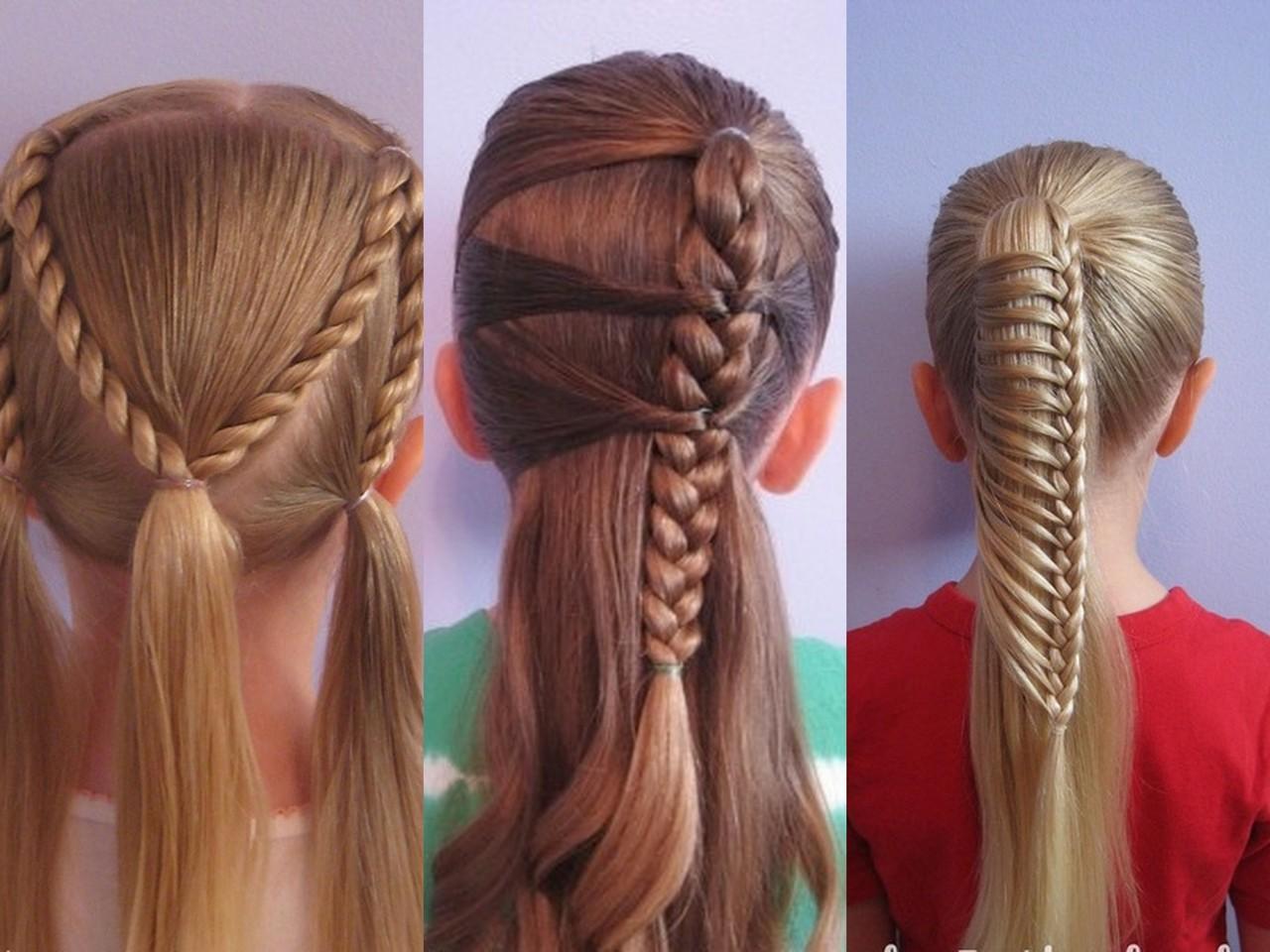 Прически на длинные волосы своими руками детские