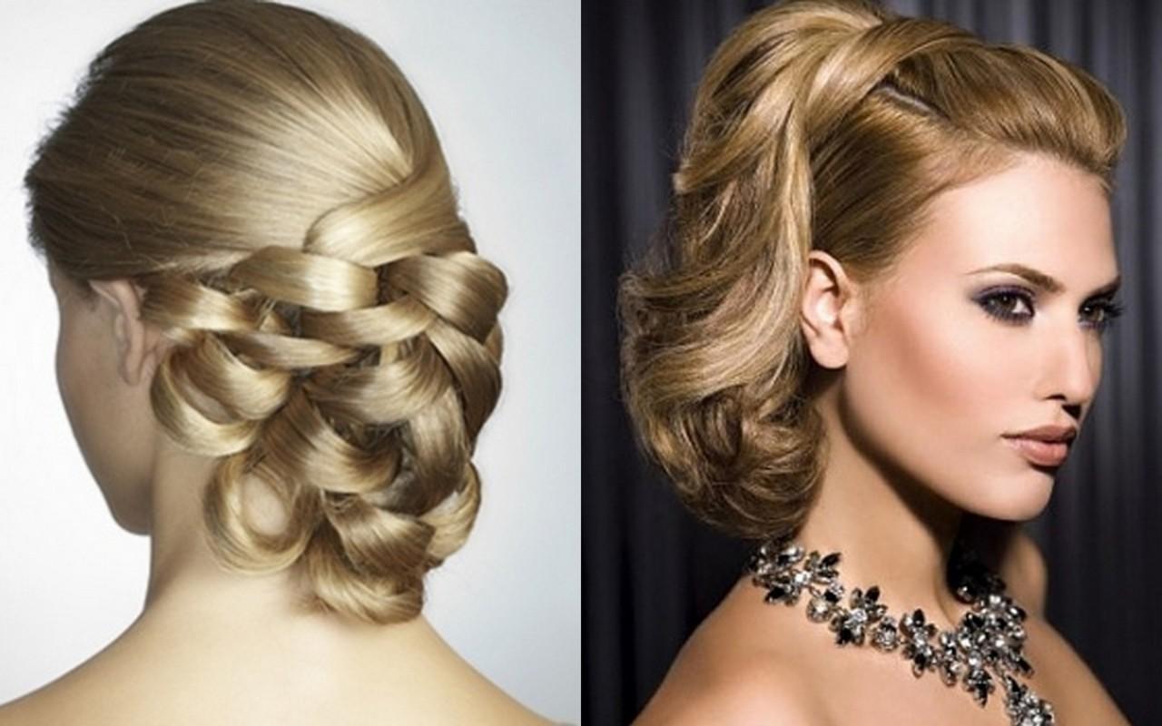Вечерние женские прически на волосы средней длины
