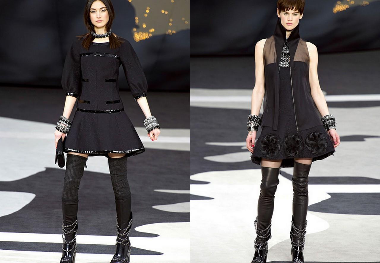 41e7d104145f3f5 модные короткие платья осень-зима 2013-2014. Chanel. модные короткие платья  фото