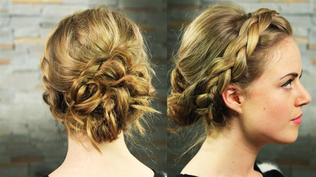 греческие причёски на средние волосы