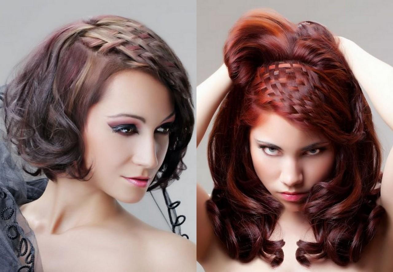Прически женские на средние волосы фото своими руками