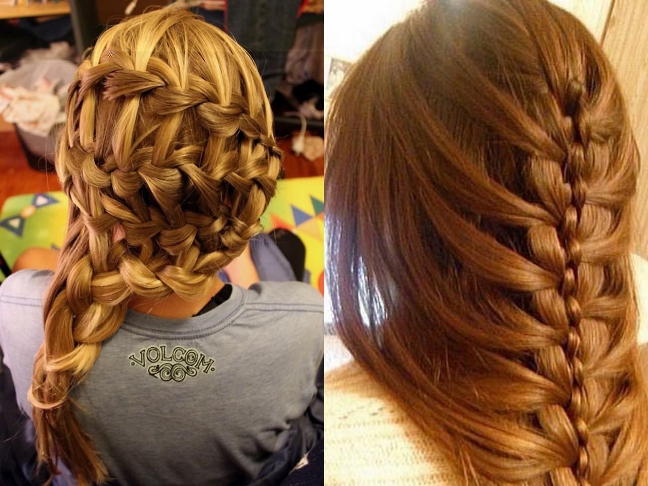 Прически на длинные волосы.косы и косички