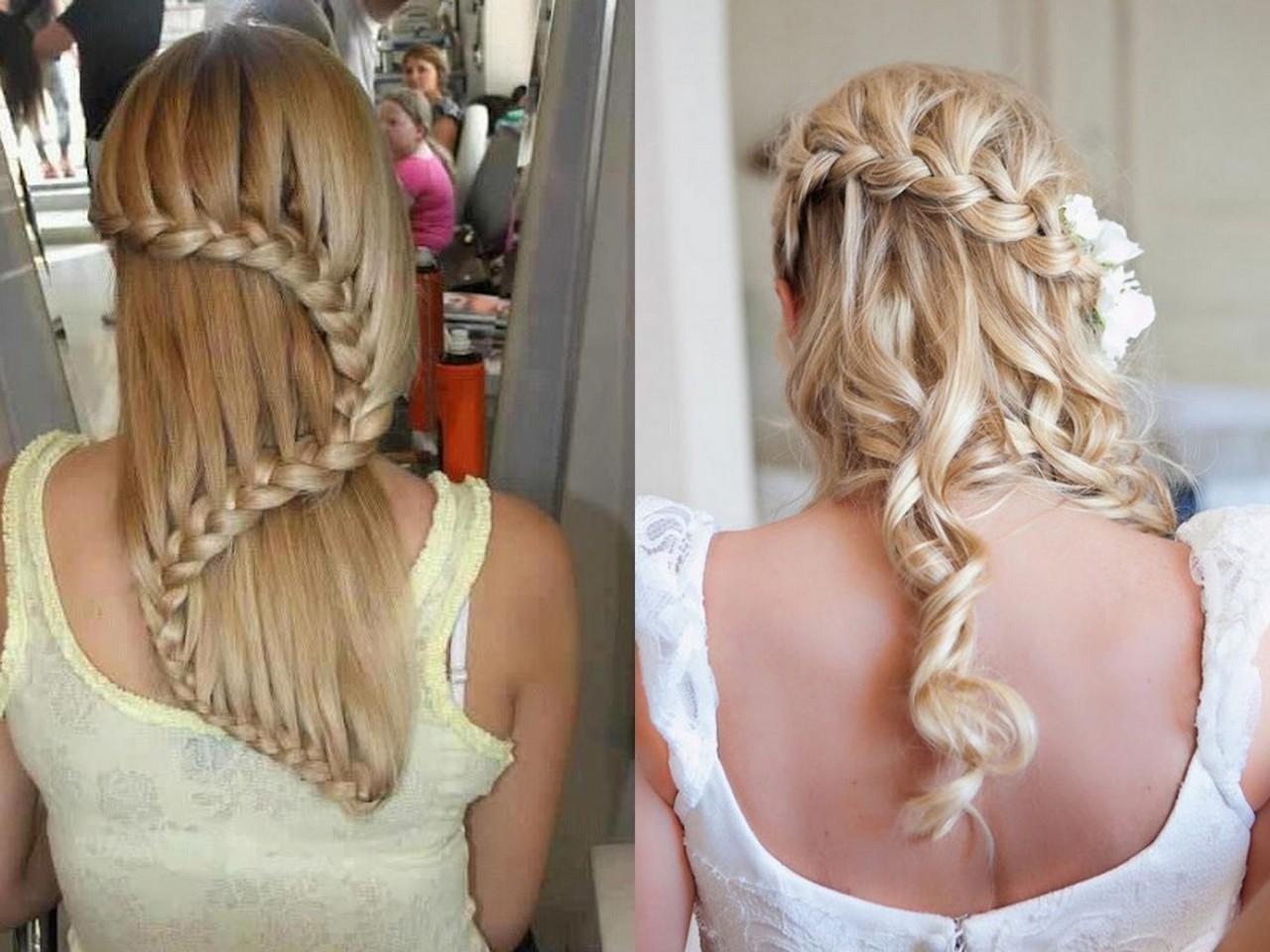 Косы для волос средней длины в домашних условиях фото