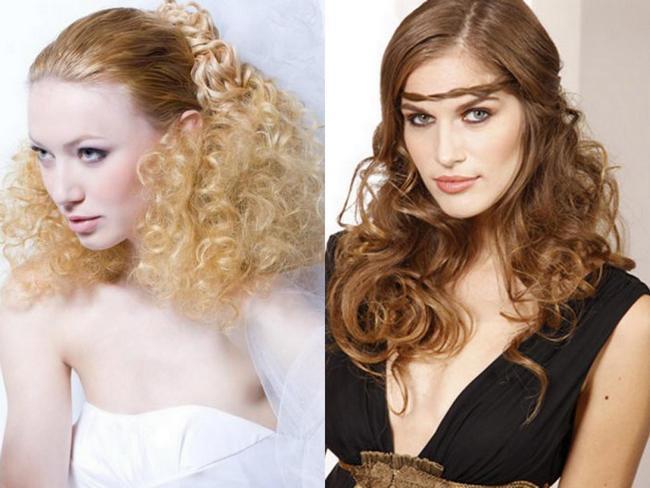 причёски кудри на длинные волосы