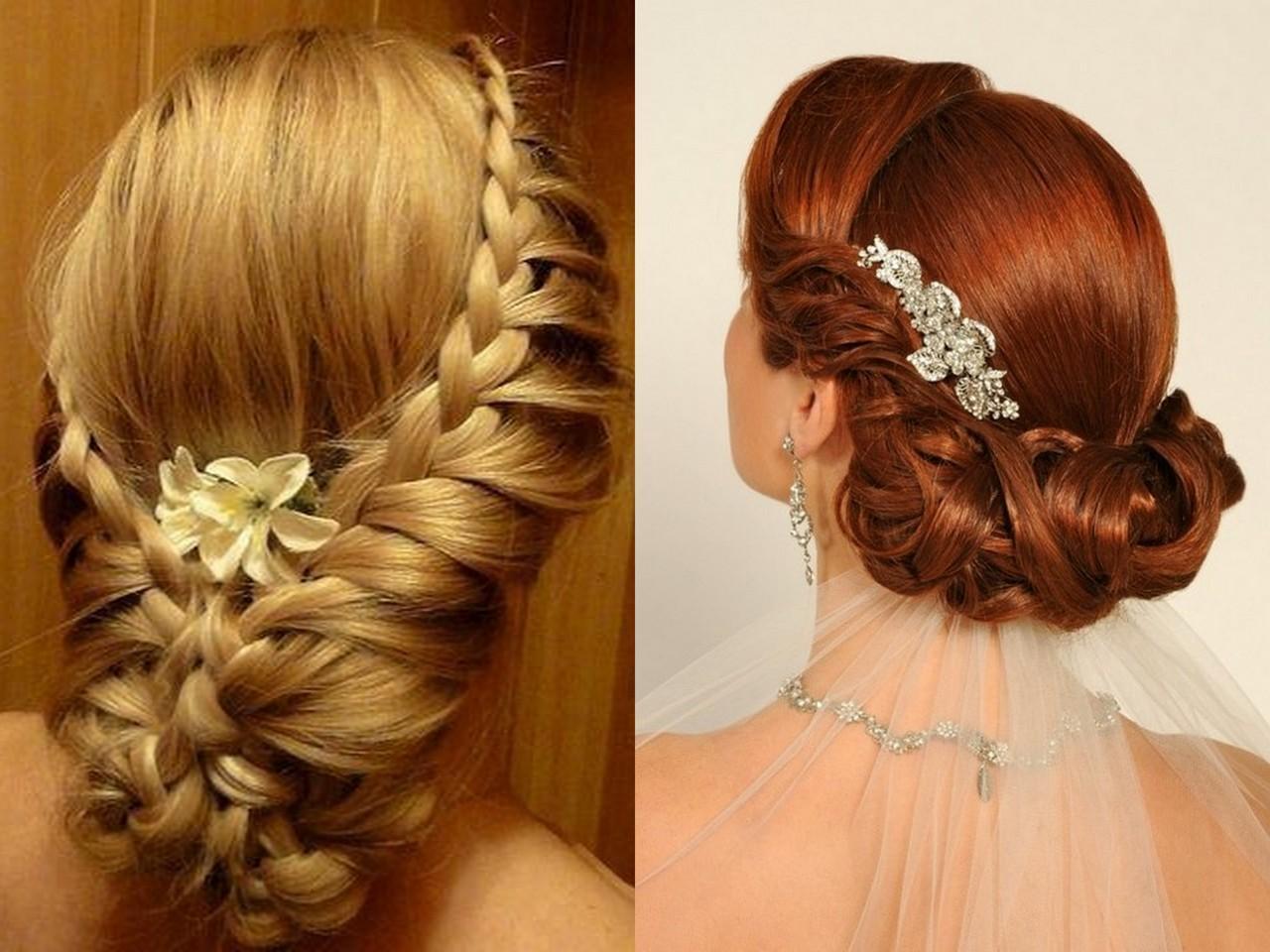 Свадебные прически плетением на длинные волосы фото