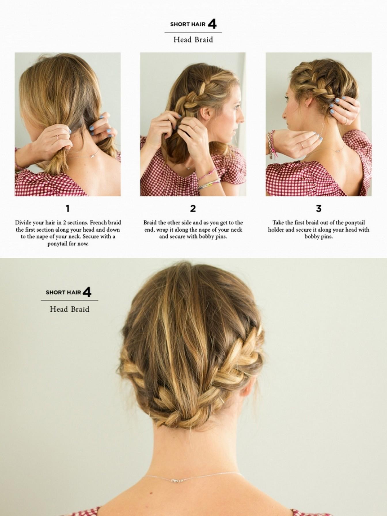 Красивые прически на короткие волосы фото инструкция
