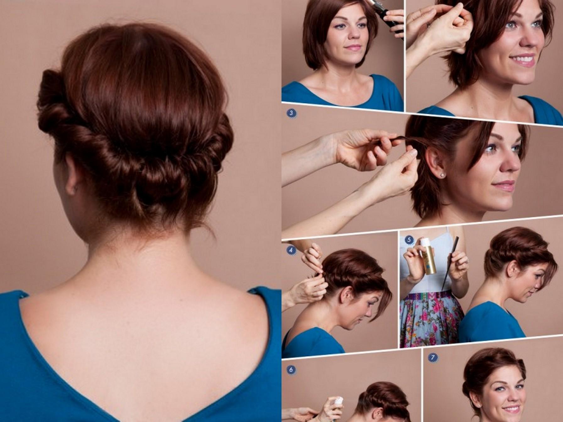 Какие можно сделать причёски на средние волосы