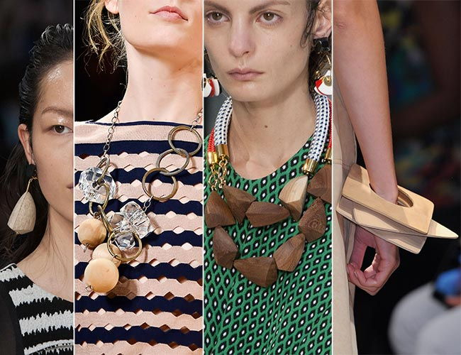 Модные украшения из дерева