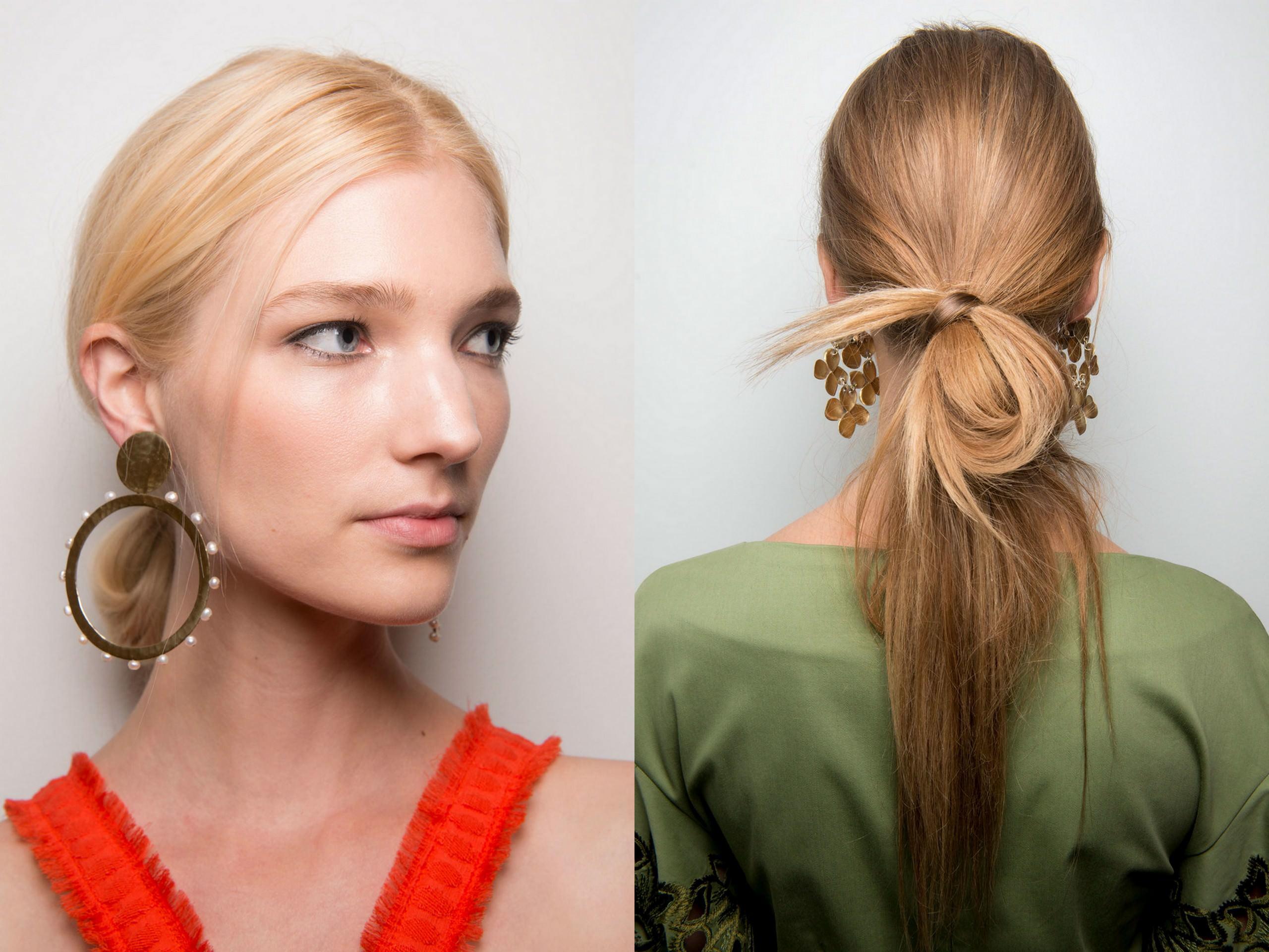 Женские причёски с хвостиком фото