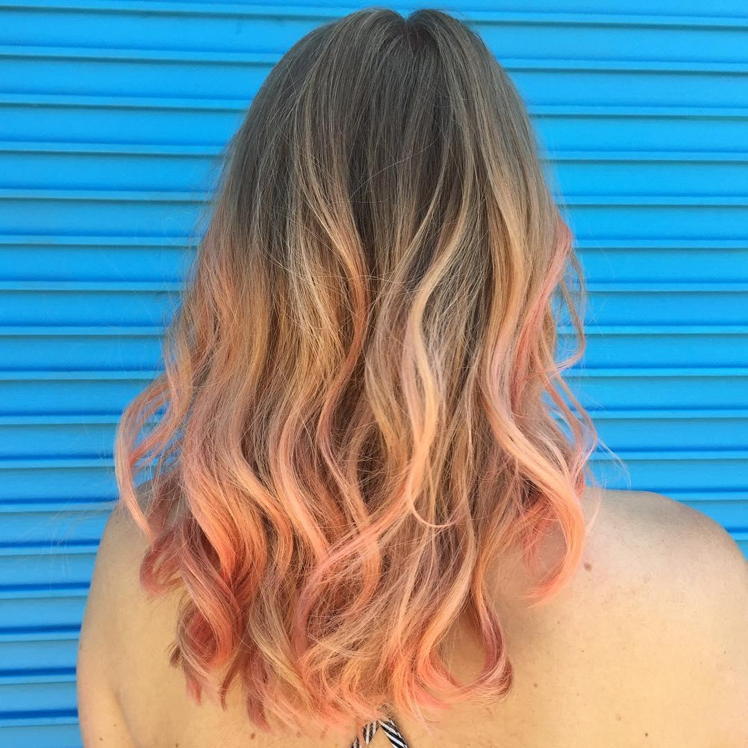 Переход в покраске волос