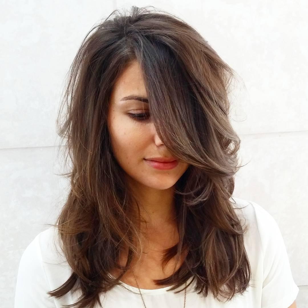 Каскадная стрижка 2018 на длинные волосы