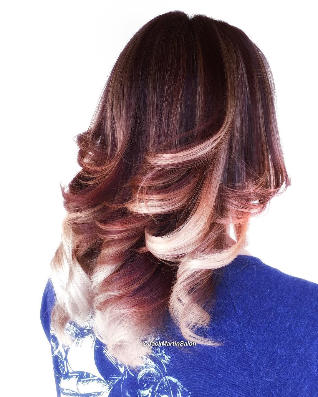 Окрашивание Омбре на Средние Волосы 50 фото Образы 2018