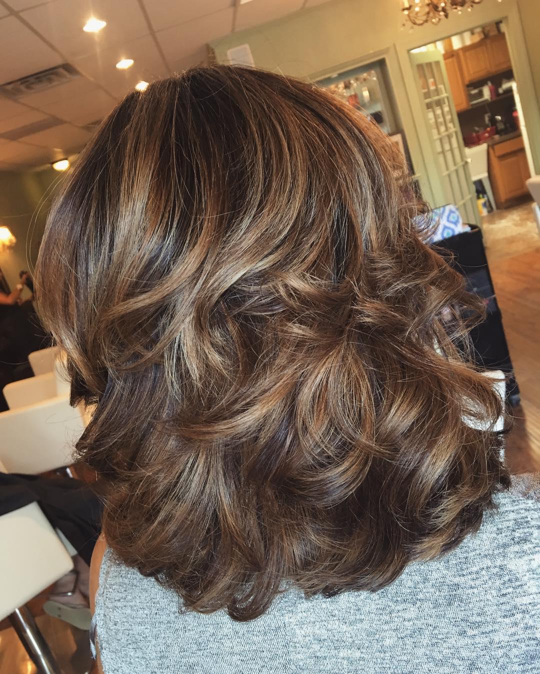 Как уложить волосы средней длины в 94
